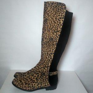 Liz Claiborne Leopard Print Boots